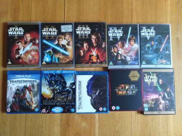 Star Wars, Gwiezdne wojny, Transformers, Blu-ray, DVD