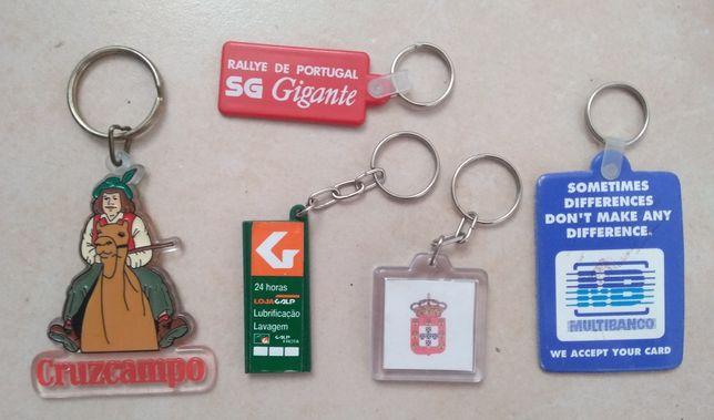 Conjunto 5 porta chaves de coleção
