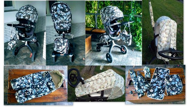 Текстиль Stokke Xplory Trailz Crusi сумка+футмуф+зонт+термос+летний