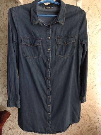 Джинсовое платье-рубашка ostin