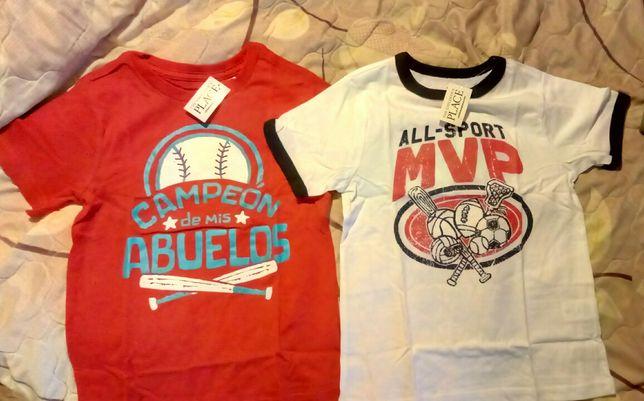 фирменные футболки Childrens Place 5лет + подарок