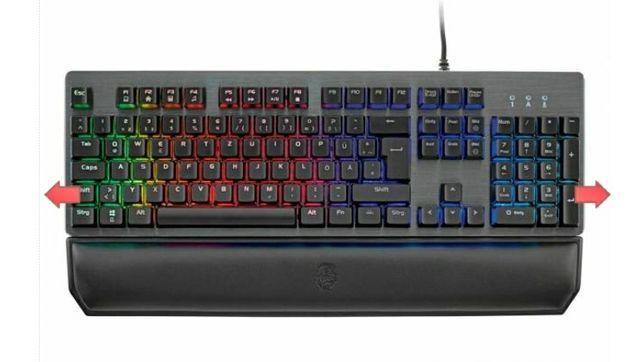 Nowa klawiatura podświetlana dla graczy mechaniczna gamingowa RGB