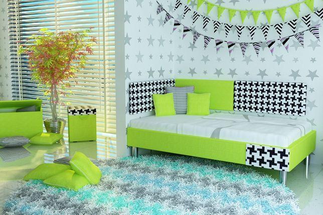 Łóżko dla dziecka+panele ścienne tapicerowane+materac,dostawa GRATIS