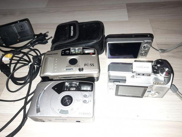 Pack de 4 máquinas fotográficas - Pentax, Canon, Sony, Fujifilm