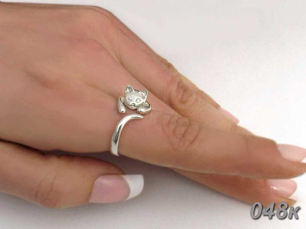 Серебряное кольцо Кошка 925 проба  Новое Бесплатная доставка