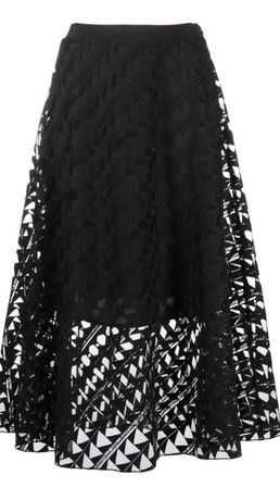 Haftowana spódnica damska midi Karl Lagerfeld