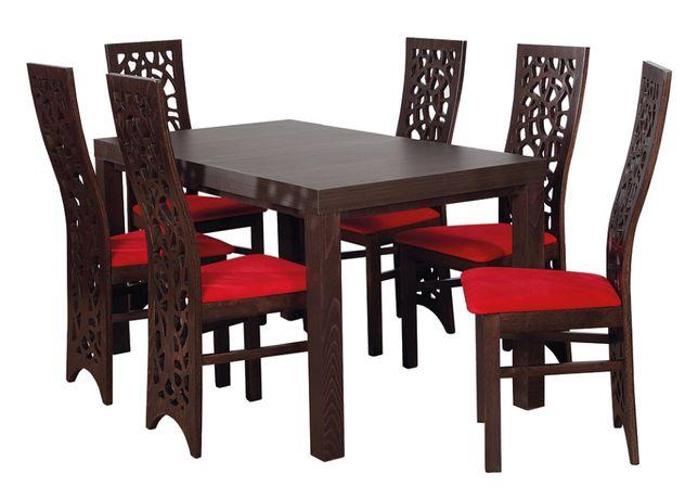Oryginalny zestaw stół+6 krzeseł do jadalni, kuchni, salonu
