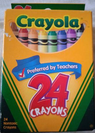 Мелки для рисования цветные, восковые CRAYOLA 24цв