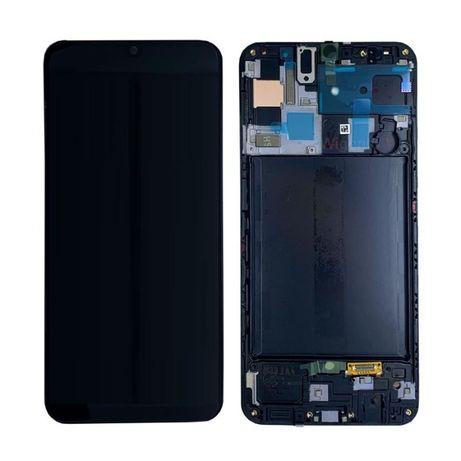 Wyświetlacz LCD Samsung A50 A505F Czarny Oryginalny Super Amoled