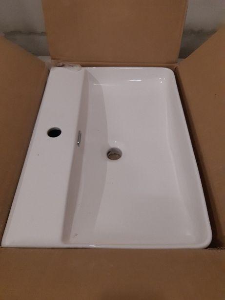 Actima Rima umywalka nablatowa 60x42 cm prostokątna biała, nieużywana