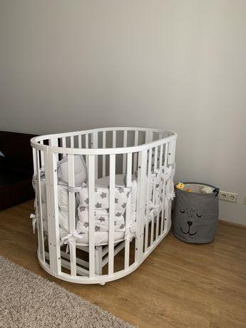 Кроватка овальная, круглая детская с маятником, ovalbed