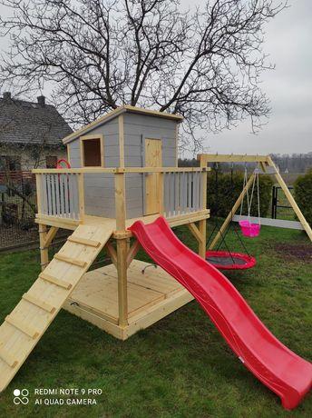 Drewniany plac zabaw, domek dla dzieci model SCOOBY-DOO MAX