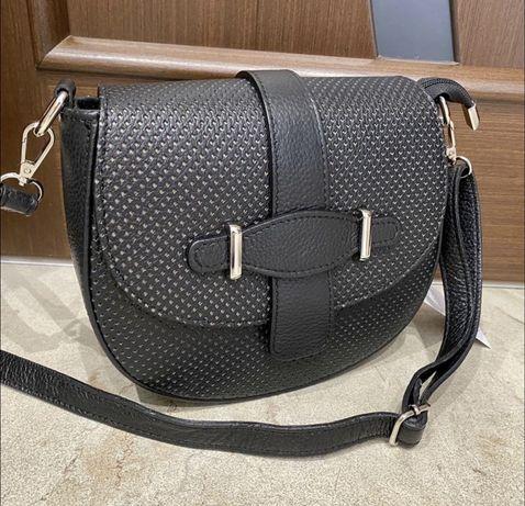 Кожаная сумка Сумка из натуральной кожи Кроссбоди Италия шкіряна сумка