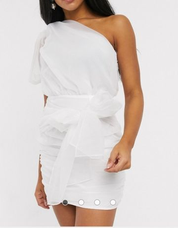 biala sukienka xxs asos