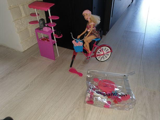Barbie na rowerze + kawiarenka+ gratisy!!