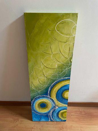 quadro com pintura em tela para decoração
