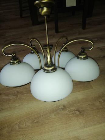 Lampa wisząca - 5 kloszy + karnisz gratis