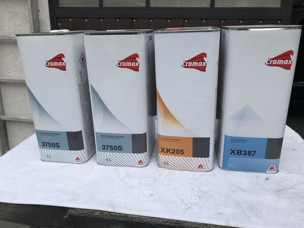 Lakier CROMAX 10 litrow +utwrdzacz+rozcienczalnik komplet