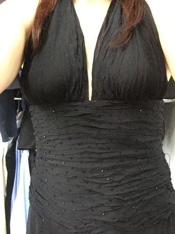 Sukienka czarna długa M/L oryginalna- wesele, sylwester, studniówka