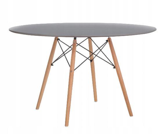 Stół okrągły 120 cm skandynawski DTW szary