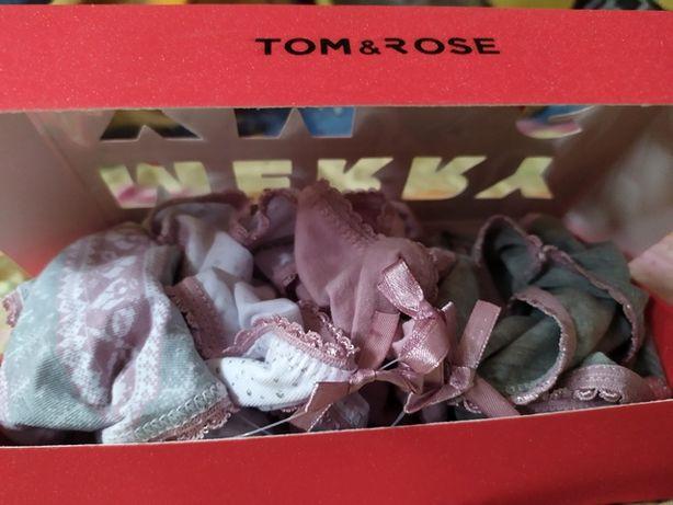 4 szt, majtki, figi, różowe, szare, białe, kartonowe opakowanie, nowe