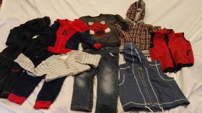 Zestaw chłopak 4-5 lat 104-110 szlafrok swetry dżinsy bezrękawnik (Z9)