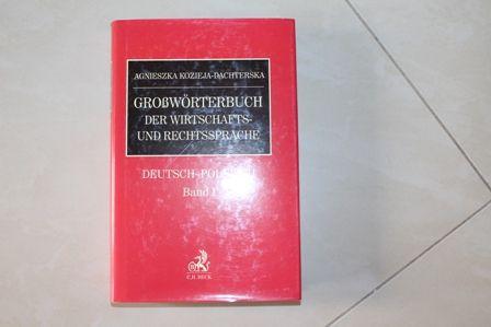 Grossworterbuch der Wirtschafts- und Rechtssprache Kozieja-Dachterska