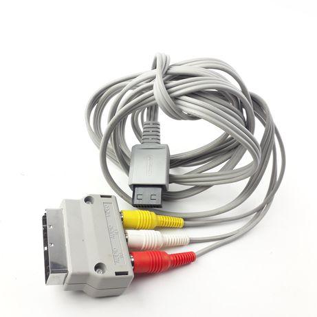 Kabel wideo AV do konsol i Nintendo RVL009 + przejściówka na EURO