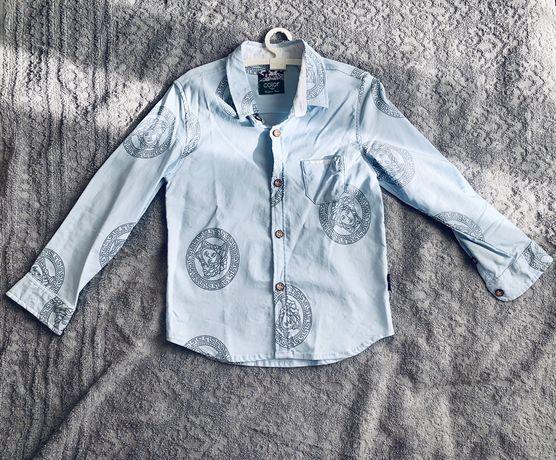 Рубашка 5 6 лет принт Versace + Подарок