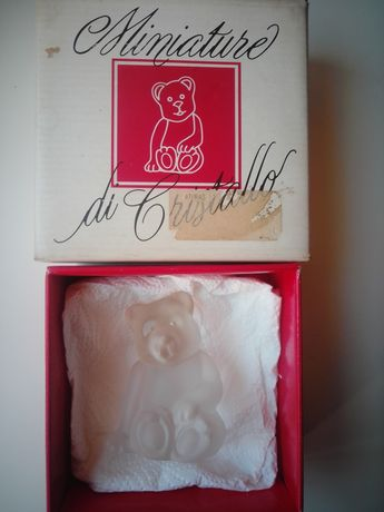 Ursinho de cristal italiano.