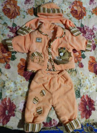 Дитячий зимовий костюмчик для дівчинки 3-6 місяців