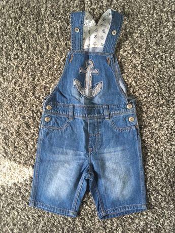 Hh&m letnie ogrodniczki jeansowe r. 86 (duże)