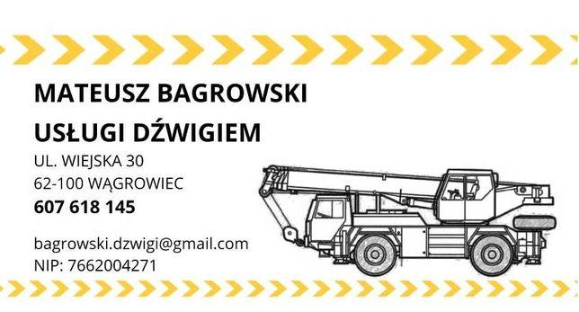 Usługi dźwigiem Wągrowiec, Skoki, Gniezno, Oborniki, Murowana Goślina