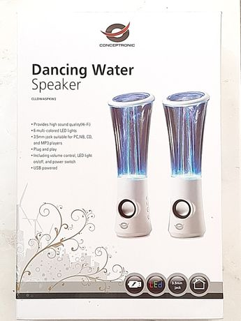 Colunas de som Conceptronic dancing water