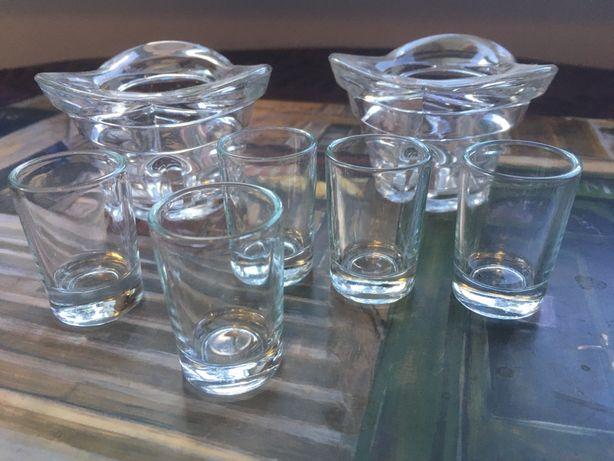 Рюмки подсвечники стекло