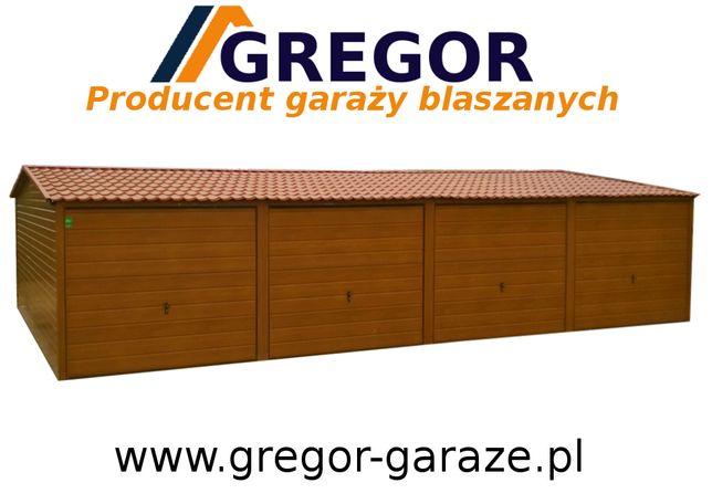 Garaż blaszak każdy wymiar orzech złoty dąb ocynk kolor 12x6 Producent