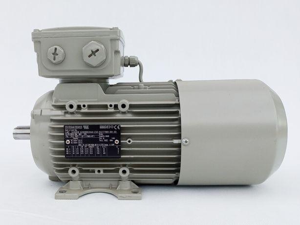 Silnik elektryczny z hamulcem 0,75 kW 1450 obr oś 19 mm na łapach B3