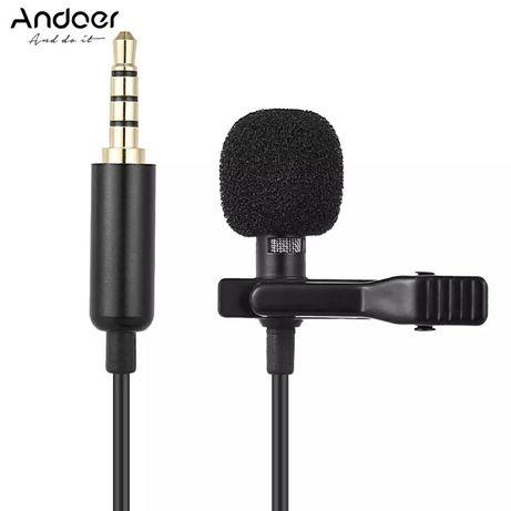 Петличный конденсаторный микрофон Andoer EY-510A