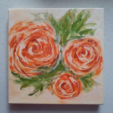 """Картина """"Цветы"""", размер 20×20"""
