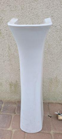Stopa pod umywalkę ceramiczna biała