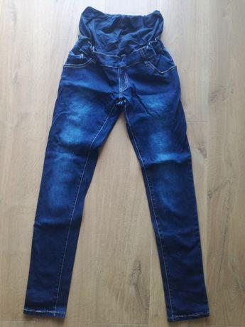 Spodnie ciążowe jeansy. R. S/M. Jak h&m mama. Regulowane.