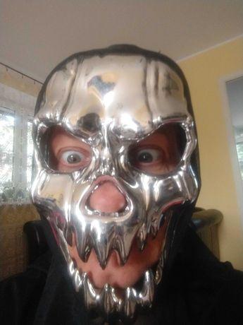 Maska czaszka w kolorze srebrnym