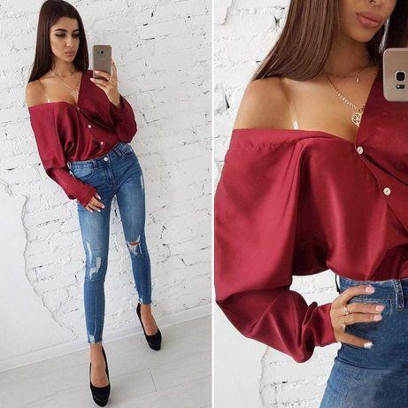 Bluzka koszula dwa kolory sexy