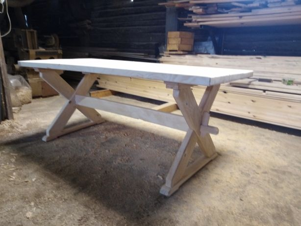 stół ogrodowy świerkowy