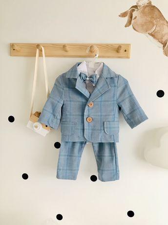 Nowy Błękitny garniturek niemowlęcy rozmiar 62 komplet