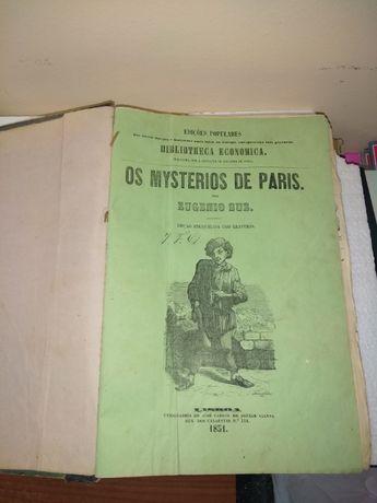 Eugenio Sue Os Mysterios de Paris 1851 1ªEdição Bibliotheca Economica