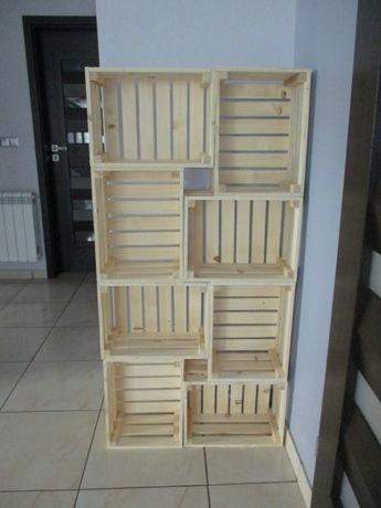 Skrzynka ozdobna, drewniana 40x30x20 na owoce meble Producent HIT
