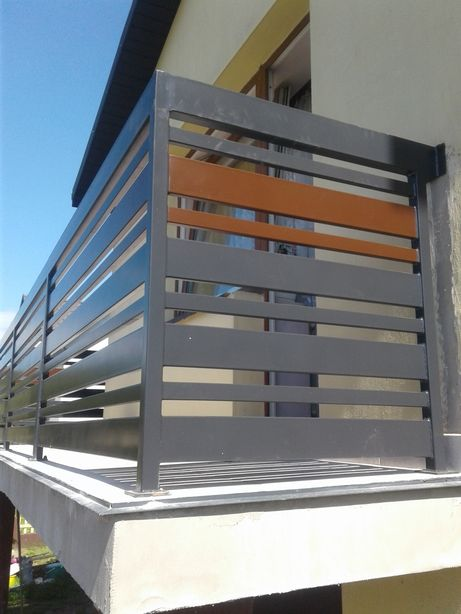 Balustrada balkonowa metalowa stslowa