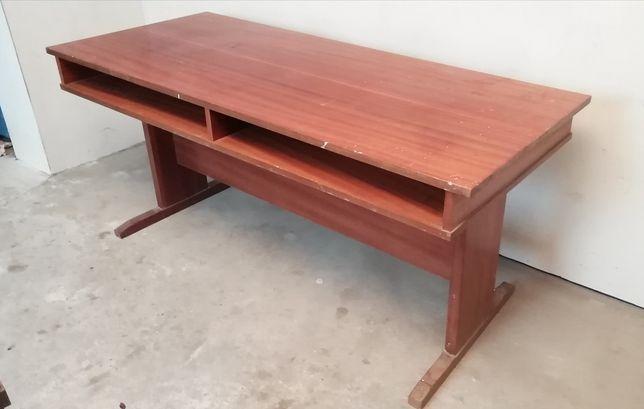 Stół biurko PRL połysk