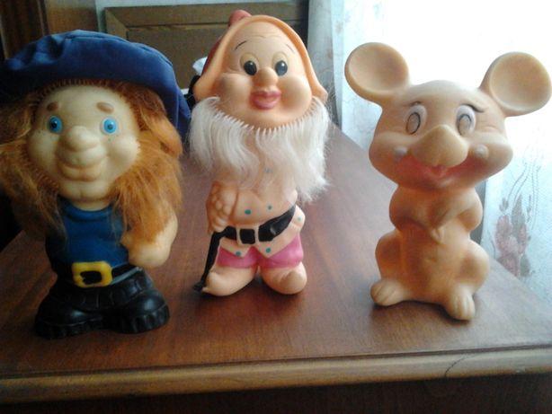 Игрушки СССР.карлсон,айболит,незнайка,гном,мышка.